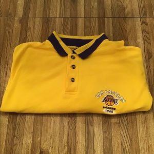 Vintage LA Lakers SS Polo Size L